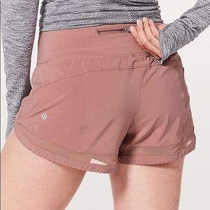 Time to sweat shorts mesh lululemon quicksand pink